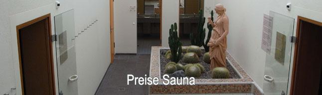 Preise Sauna inkl. Hallenbad