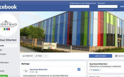 Sportbad Bitterfeld jetzt auch auf facebook